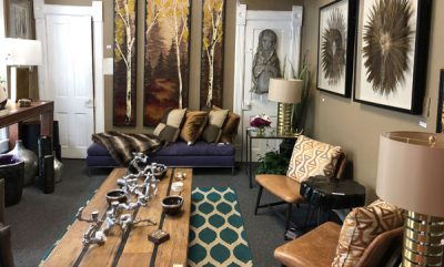 Living room with furniture at Aspen Home Consignment