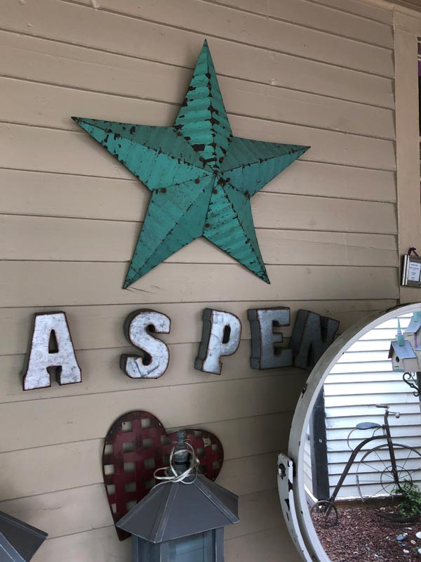 Aspen with a star
