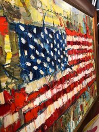 American flag painting